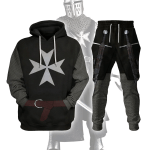 Gearhomies Tracksuit Hoodies Pullover Sweatshirt Knight Hospitaller Historical 3D Apparel