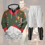 Gearhomies Tracksuit Hoodies Pullover Sweatshirt Napoleon in Chasseur-Cheval Historical 3D Apparel