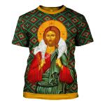 Gearhomies Unisex T-shirt Orthodox Jesus Christ 3D Apparel