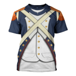 Gearhomies Unisex T-Shirt French Imperial Guard Grenadier 3D Apparel