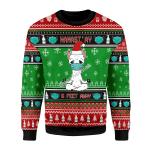 Merry Christmas Gearhomies Unisex Christmas Sweater Namaste Stay 6 Feet Away 3D Apparel