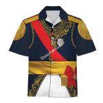 Gearhomies Unisex Hawaiian Shirt Marshal of the Empire Michel Ney Historical 3D Apparel