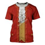 Gearhomies Unisex T-Shirt Mozart 3D Apparel