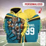 Gearhomies Personalized Unisex Tracksuit Hoodies Jacksonville Jaguars Football Team 3D Apparel