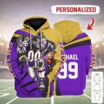 Gearhomies Personalized Unisex Tracksuit Hoodies Baltimore Ravens Football Team 3D Apparel