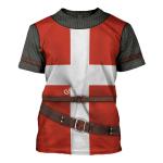 Gearhomies Unisex T-Shirt Knight Hospitaller 3D Apparel