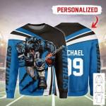 Gearhomies Personalized Unisex Sweatshirt Carolina Panthers Football Team 3D Apparel