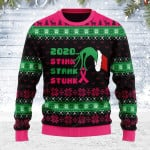 Merry Christmas Gearhomies Unisex Ugly Christmas Sweater Stink Stank Stunk Breast Cancer 3D Apparel