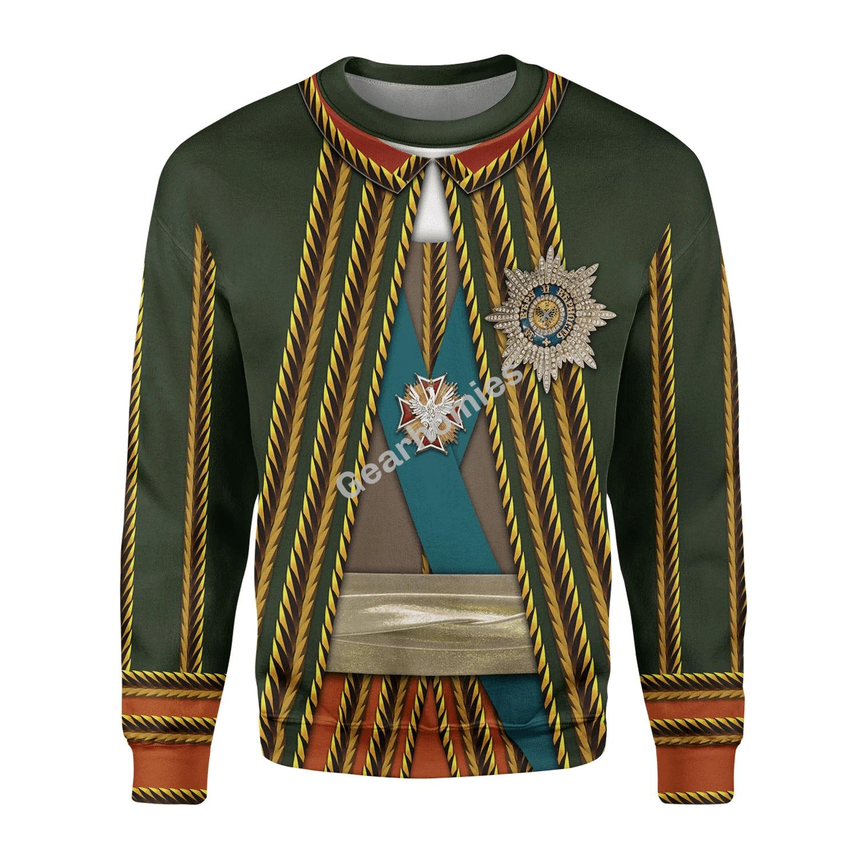 Gearhomies Unisex Sweatshirt Burkhard Christoph von Munnich - Russia 3D Apparel