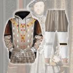 Gearhomies Tracksuit Hoodies Pullover Sweatshirt Henry VIII King of England Historical 3D Apparel