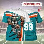 Gearhomies Personalized Unisex T-Shirt Miami Dolphins Football Team 3D Apparel