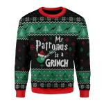 Merry Christmas Gearhomies Unisex Christmas Sweater My Patronus Is A Grinch Ugly Christmas