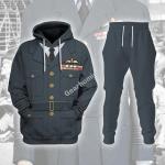Gearhomies Unisex Tracksuit Hoodies Pullover Sweatshirt Group Captain Leonard Horwood WWII Service Dress   Historical 3D Apparel