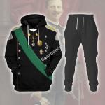 Gearhomies Tracksuit Hoodies Pullover Sweatshirt Victor Emmanuel III King of Italy Historical 3D Apparel