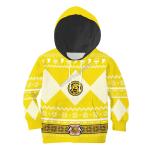 Gearhomies 3D Kid Tops Pullover Sweatshirt Yellow Power Rangers