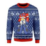 Merry Christmas Gearhomies Unisex Christmas Sweater Optimus Prime