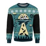 Gearhomies Unisex Sweatshirt UFO ALien Cow Abduction 3D Apparel