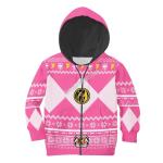 Gearhomies Kid Zip Hoodie Kid Pink Power Rangers