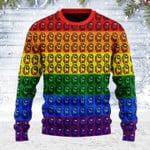 Merry Christmas Gearhomies Unisex Ugly Christmas Sweater Among Us Gay Pride 3D Apparel