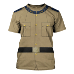 Gearhomies Unisex T-Shirt Theodore Roosevelt 3D Apparel