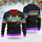 Merry Christmas Gearhomies Unisex Ugly Christmas Sweater Oh Deer I'm Qeer LGBT 3D Apparel