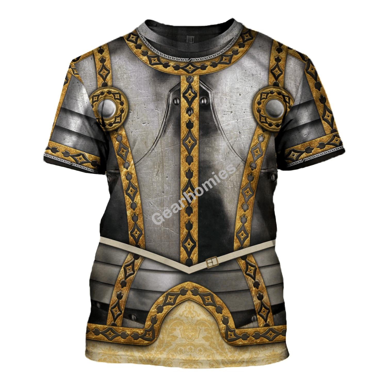 Gearhomies Unisex T-Shirt Phillip II of Spain 3D Apparel