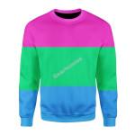 Merry Christmas Gearhomies Unisex Christmas Sweater Polysexual Flag 3D Apparel