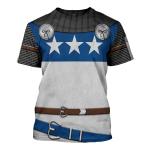 Gearhomies Unisex T-Shirt Sir James Douglas The Black Douglas 3D Apparel
