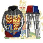 Gearhomies Tracksuit Hoodies Pullover Sweatshirt Royal Coat of Arms of the United Kingdom (Queen Elizabeth II) Historical 3D Apparel