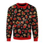 Merry Christmas Gearhomies Unisex Christmas Sweater Scared Heart 3D Apparel
