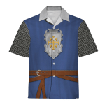 Gearhomies Unisex Hawaiian Shirt Knight of Edessa Historical 3D Apparel