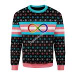 Merry Christmas Gearhomies Unisex Christmas Sweater Transgender Autistic Flag 3D Apparel