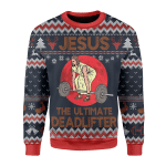 Merry Christmas Gearhomies Unisex Christmas Sweater The Ultimate Deadlifter 3D Apparel
