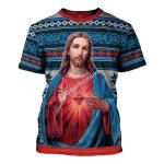 Gearhomies Unisex T-shirt Jesus Christ 3D Apparel