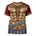 Gearhomies Unisex T-Shirt Spartan Hoplite Armour 3D Apparel