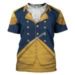 Gearhomies Unisex T-Shirt General George Washington 3D Apparel