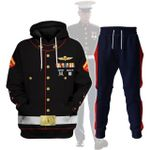 Gearhomies Tracksuit Hoodie Pullover Sweatshirt US Marines Blue Dress Lance Corporal Uniform 3D Apparel