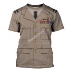 Gearhomies Unisex T-Shirt WW2 RAF Tropical Full Dress 3D Apparel