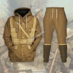 Gearhomies Tracksuit Hoodies Pullover Sweatshirt World War I British Soldiers Historical 3D Apparel