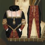 Gearhomies Tracksuit Hoodies Pullover Sweatshirt Anne Boleyn Historical 3D Apparel