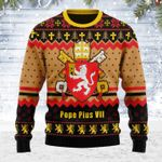 Merry Christmas Gearhomies Unisex Ugly Christmas Sweater Pope Pius VIII Coat of Arms 3D Apparel