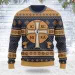 Merry Christmas Gearhomies Unisex Ugly Christmas Sweater Jesus IC XC 3D Apparel