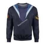 Gearhomies Unisex Sweatshirt WWII Royal Navy - Ratings 3D Apparel