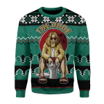 Merry Christmas Gearhomies Unisex Christmas Sweater The Dude 3D Apparel