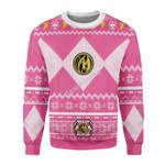 Gearhomies Sweatshirt Power Rangers 3D Apparel, Pink