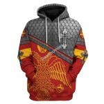 Gearhomies Tops Pullover Sweatshirt Sweatshirt Greek Eagle Symbol 3D Apparel