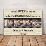 Gearhomies Personalized 4 Photos Canvas Granddaughter And Grandchild - Mother's Day Gift