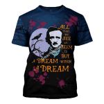 Gearhomies Unisex T-shirt Edgar Allan Poe A Dream Within A Dream 3D Apparel