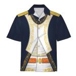 Gearhomies Unisex Hawaiian Shirt Joachim-Napoleon Mura Historical 3D Apparel