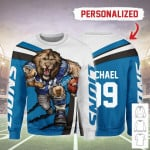 Gearhomies Personalized Unisex Sweatshirt Detroit Lions Football Team 3D Apparel
